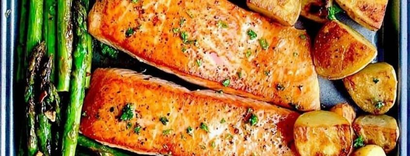 ψάρι, σολομός, ψάρι ψητό